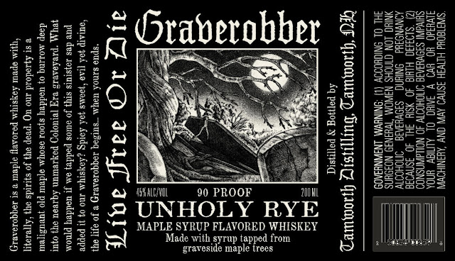 Tamworth Distillery Grave Robber Unholy Rye Maple Syrup Flavored Whiskey