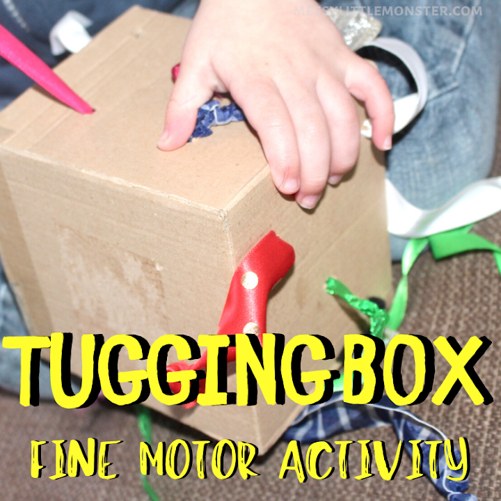 tugging box fine motor activity