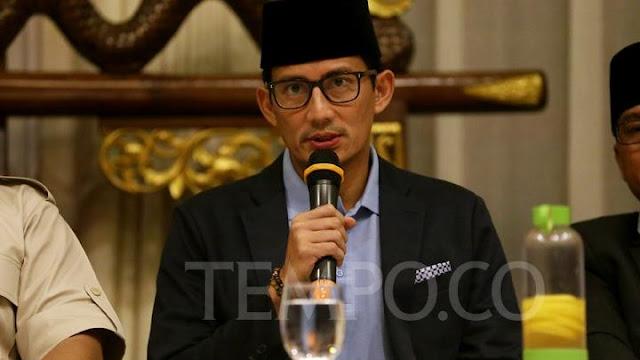 Sandi Sindir Jokowi Umumkan Ketua Timses