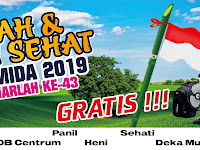 Desain Banner Harlah dan Jalan Sehat Yasmida Ambarawa 2019