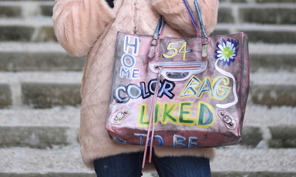 borsa dipinta a mano