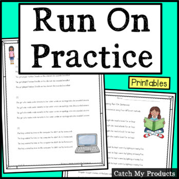 worksheets to repair run on sentences, #TpT #iteach