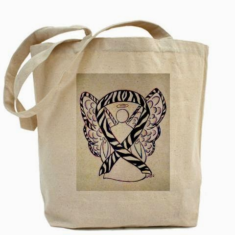 Zebra Rare Diseases Angel Awareness Ribbon Bag Image Picture
