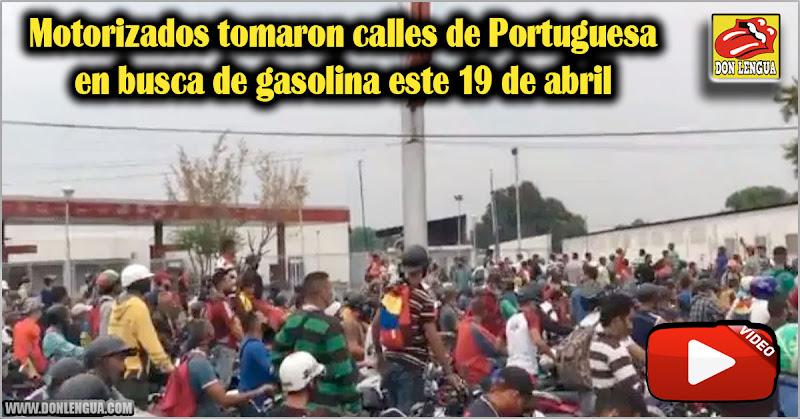 Motorizados tomaron calles de Portuguesa en busca de gasolina este 19 de abril