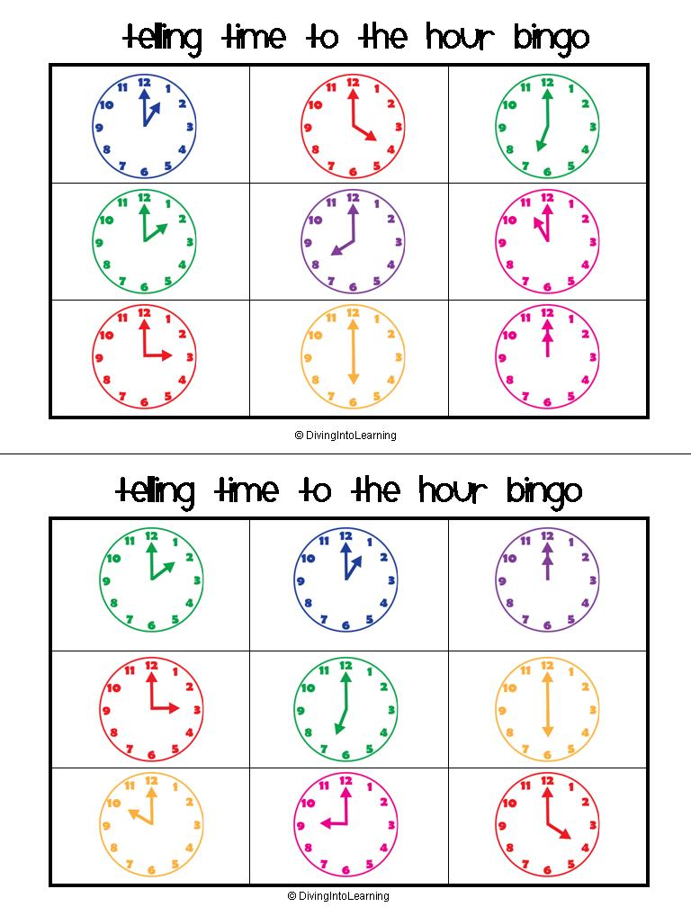 Diving Into Learning: Telling Time to the Hour Packet!