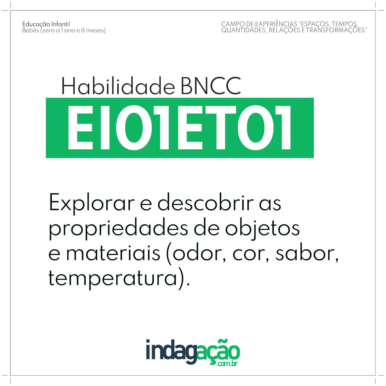 Habilidade EI01ET01 BNCC