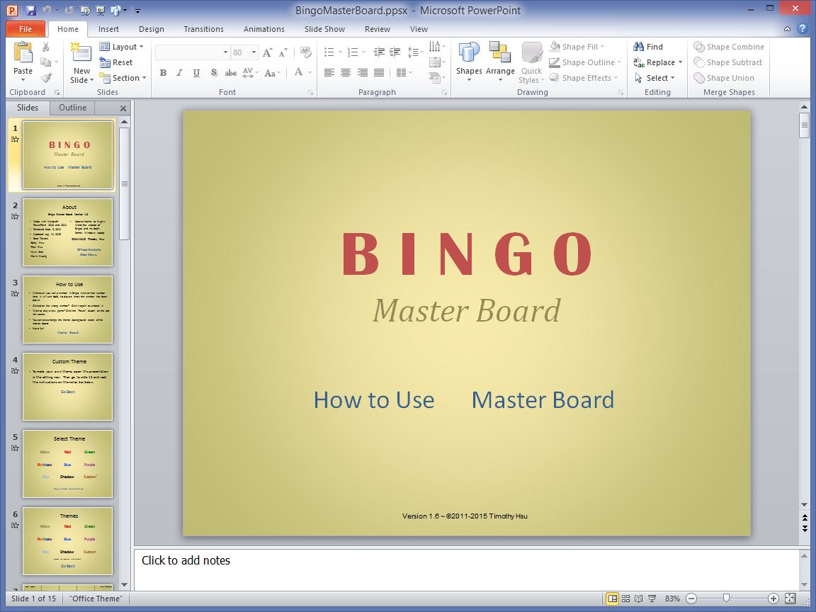 master - Bingo Master Board & Bingo Master Board PLUS BingoMasterBoardScreenshot1