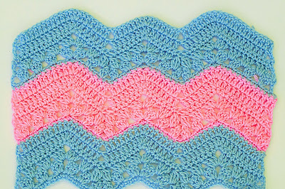 1 - Crochet Imagen Puntada zig zag a crochet continuacion por Majovel Crochet
