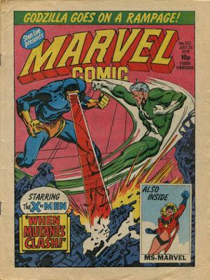 Marvel Comic #352, Cyclops vs Quicksilver