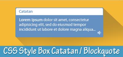 Cara Membuat Kotak Catatan Di Postingan Blog