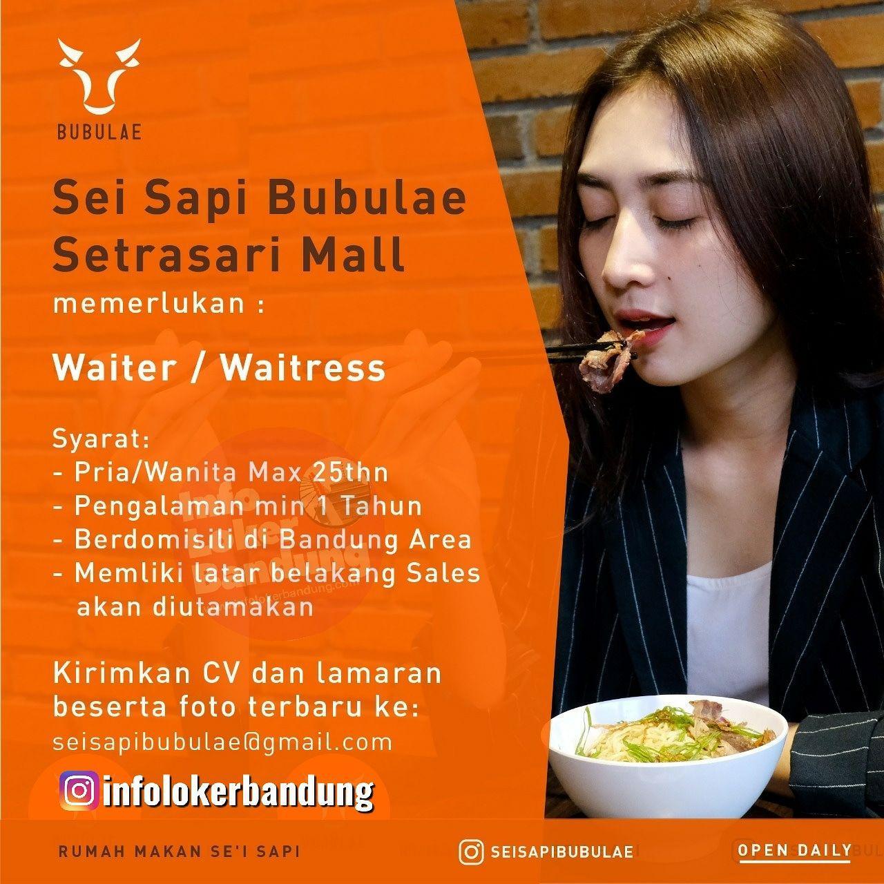 Lowongan Kerja Sei Sapi Bubulae Setrasari Mall Bandung Juli 2019