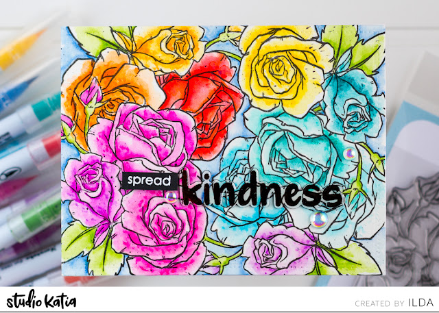 Spread Kindness Card for Studio Katia by ilovedoingallthingscrafty.com