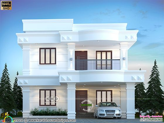 Cute Arabic model house in Kerala