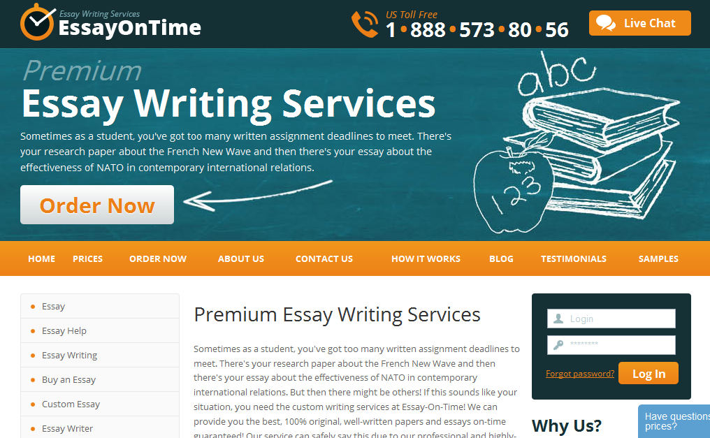 Science Essay Ideas Essayontimecom Is One Site Where The Web Copy Is A Good Indicator Of  Quality Their Website Copy Is Of High Quality And Their Services Match The  Quality  Essay Proposal Template also Thesis Essay Topics Buy Essay Online Argumentative Essay Proposal