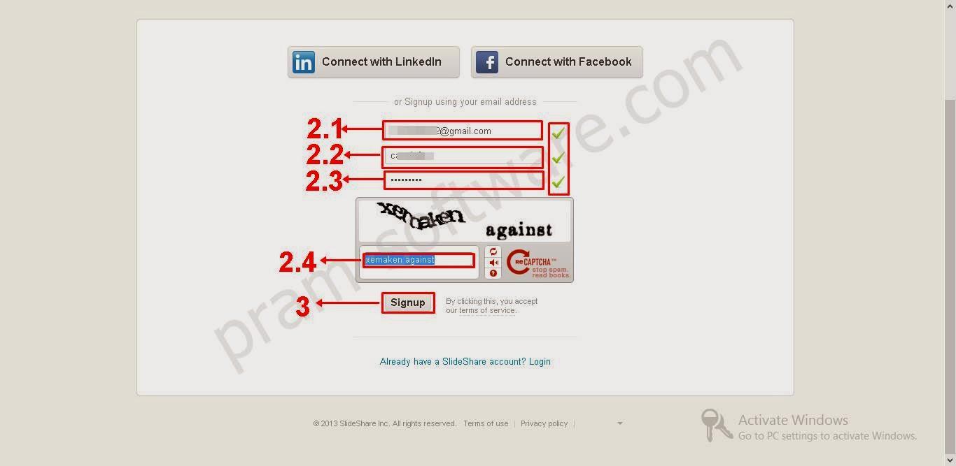 Cara Mendaftar Akun di SlideShare.net