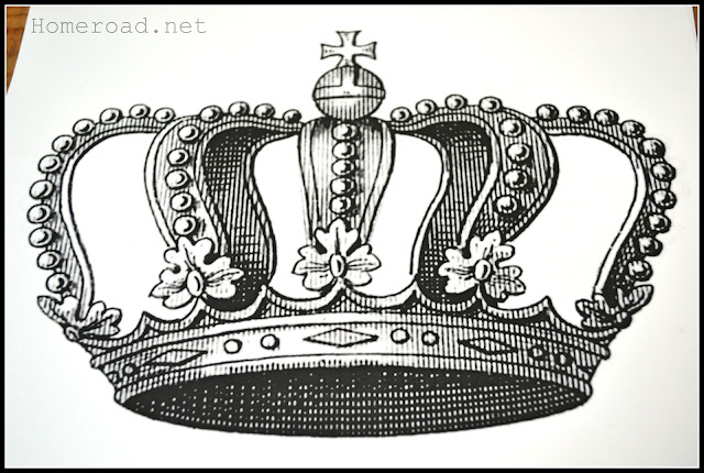 crown design for the chair