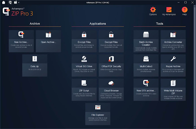 Screenshot Ashampoo ZIP Pro 3.0.26 Full Version