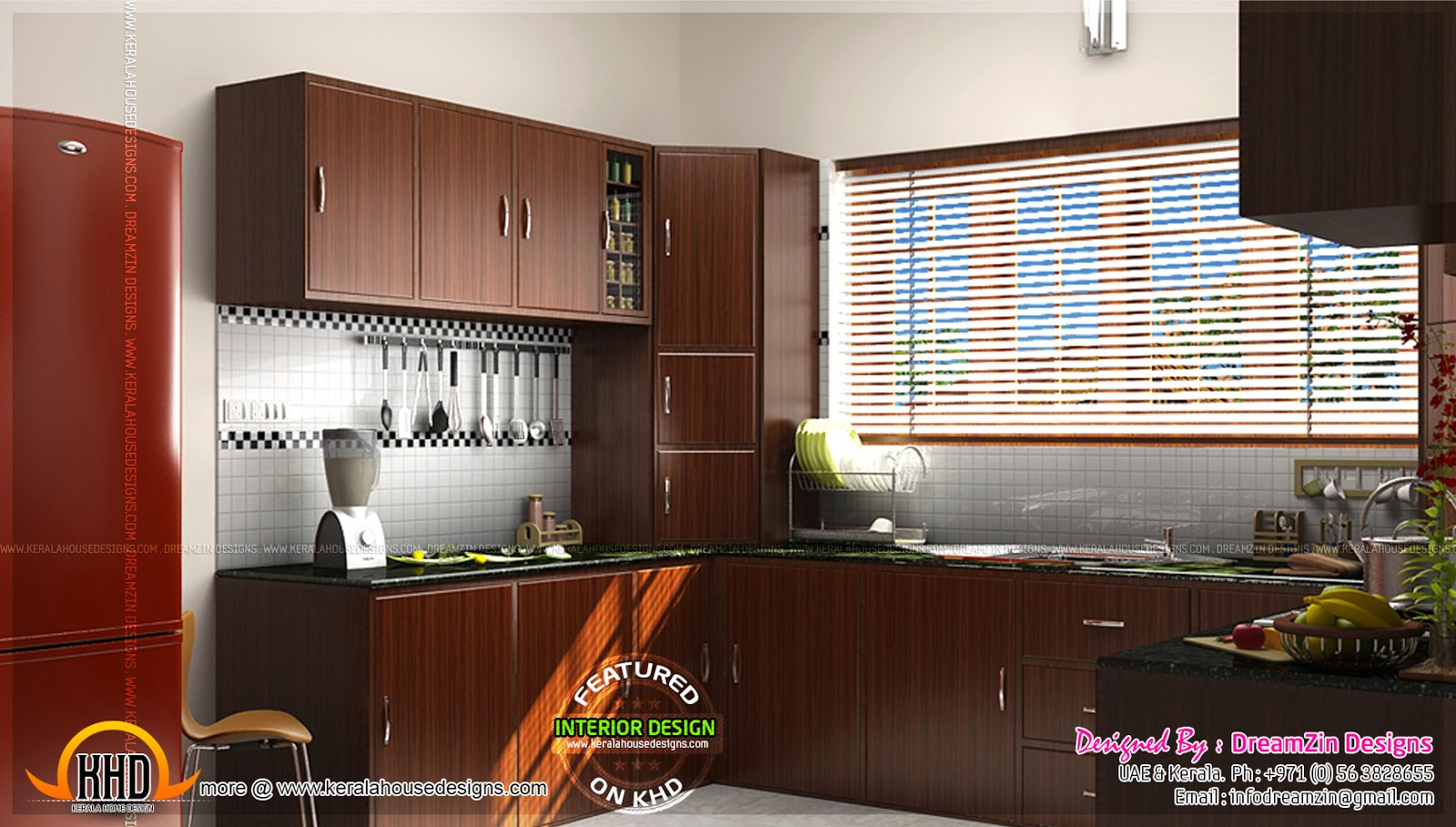 Kitchen interior dining area design home kerala plans for Latest modern kitchen design in india