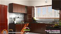 Kitchen Interior Dining Area Design - Kerala Home