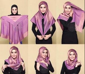 Tutorial Hijab Simple ke kampus