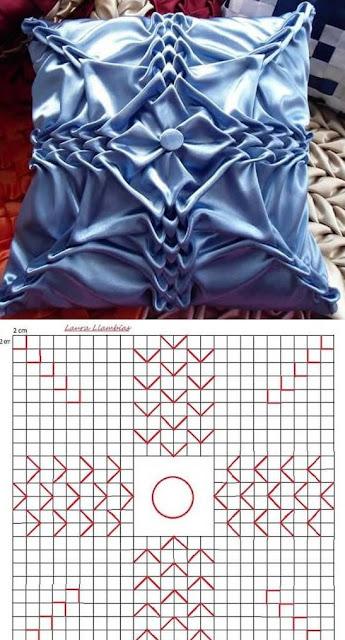 almofadas em capitonê com os diagramas para imprimir 4