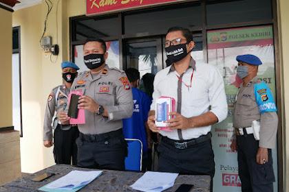Tim Opsnal Polsek Kediri Bekuk Dua Pelaku Pencurian dengan kekerasan di Kediri