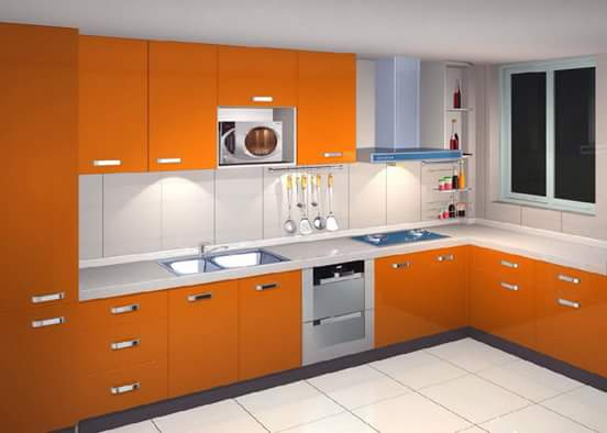 kitchen set minimalis penuh warna