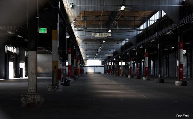Interieur d'une entrepôt d'un pier, port de San-Francisco