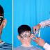 अलीराजपुर के युवा द्वारा हेयर कटिंग के माध्यम से दिया जा रहा मतदाता जागरूकता सन्देश