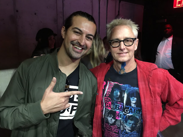 Ammar Farooki posing for a picture with his favorite guitarist Mike McCreedy of Pearl Jam.
