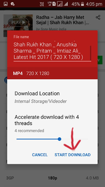 Youtube video Download by Videoder