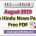 The Hindu Newspaper Pdf Download - August 2019