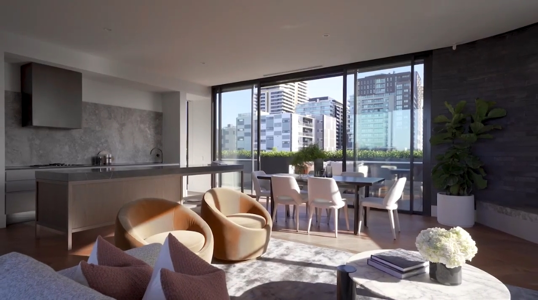 21 Interior Design Photos vs. 19 Chambers St, South Yarra Penthouse Tour