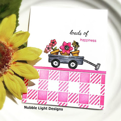 Loads of happiness by Priscilla features Newton's Wagon of Wishes and Gingham by Newton's Nook Designs; #newtonsnook