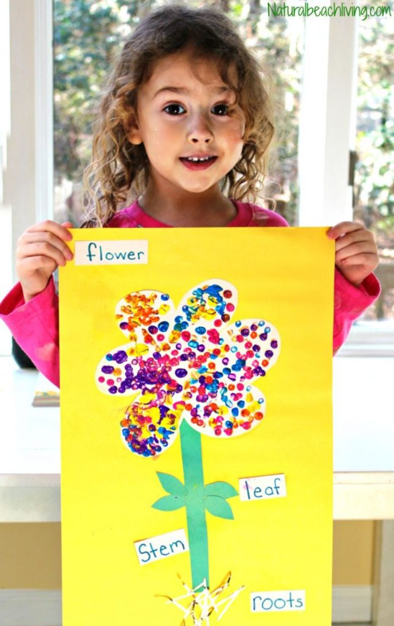 Spring crafts for kids - parts of a flower craft