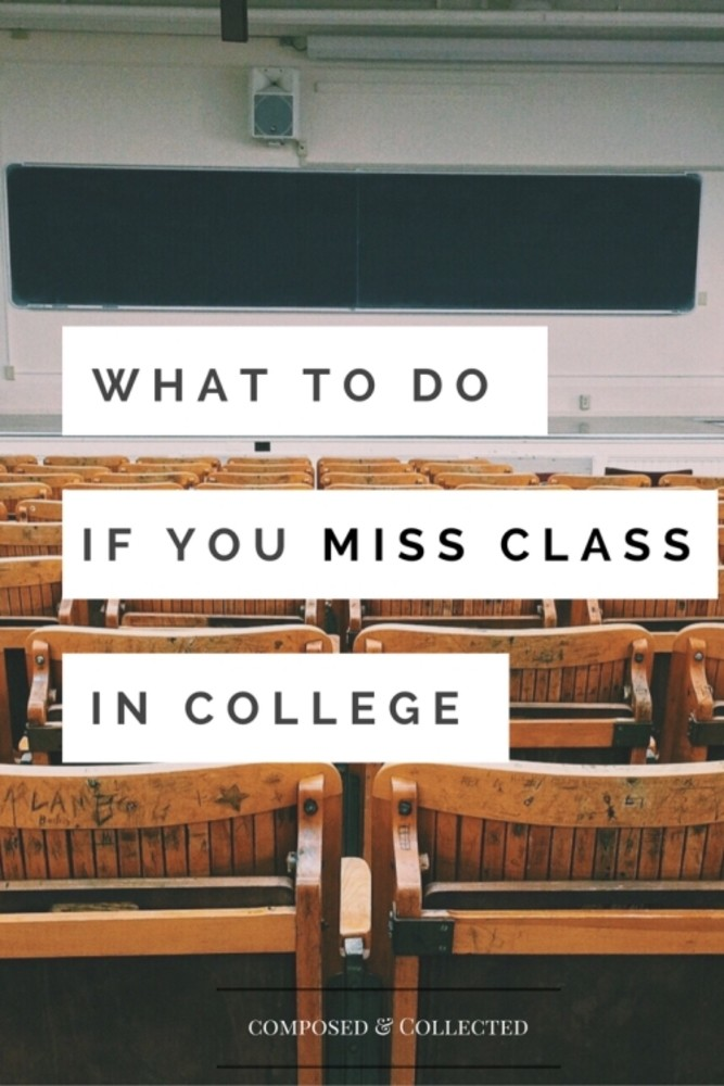 missing a college class
