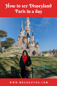 how to see disneyland paris in one day- girl in front of castle