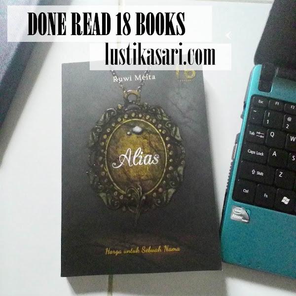 [Done Read Books] Alias; Harga Untuk Sebuah Nama