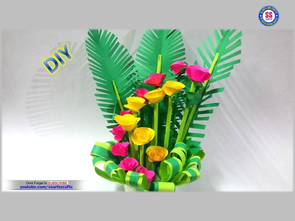 Paper Craftspaper Bouquet For Home Decoration