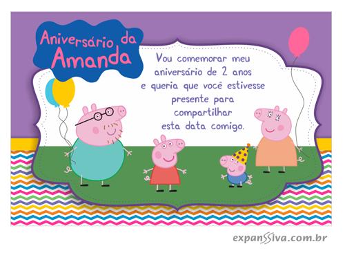 convite de aniversario peppa pig 9 - Convite de Aniversário Infantil Peppa Pig