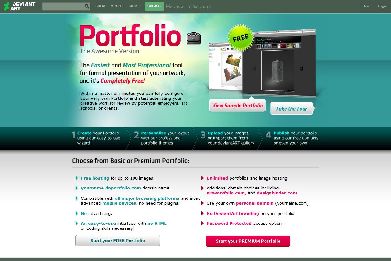 أفضل مواقع لإنشاء محفظة الأعمال ( Portfolio ) - Hcouch ...