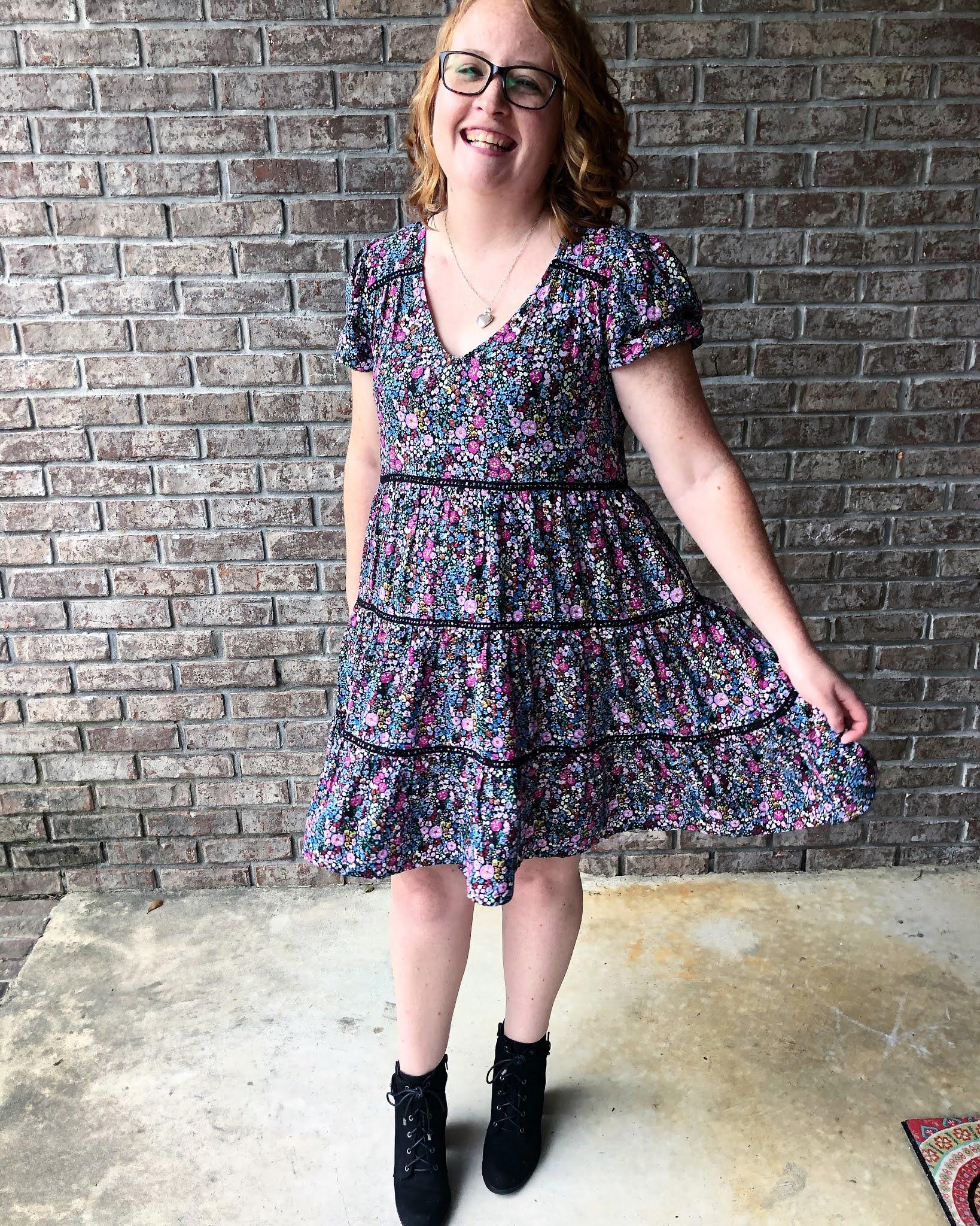 purple-flower-dress-black-lace-up-booties