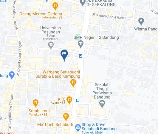 Map Letak Hotel Banana Inn Bandung