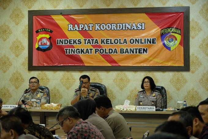 Polda Banten Laksanakan Rapat Kordinasi Tata Kelola Online Tingkat Polda