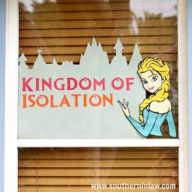Elsa Kingdom of Isolation Window Display Coronavirus