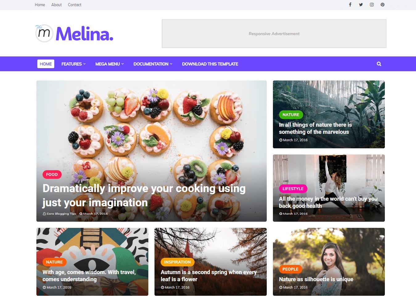 Melina Blogger Template