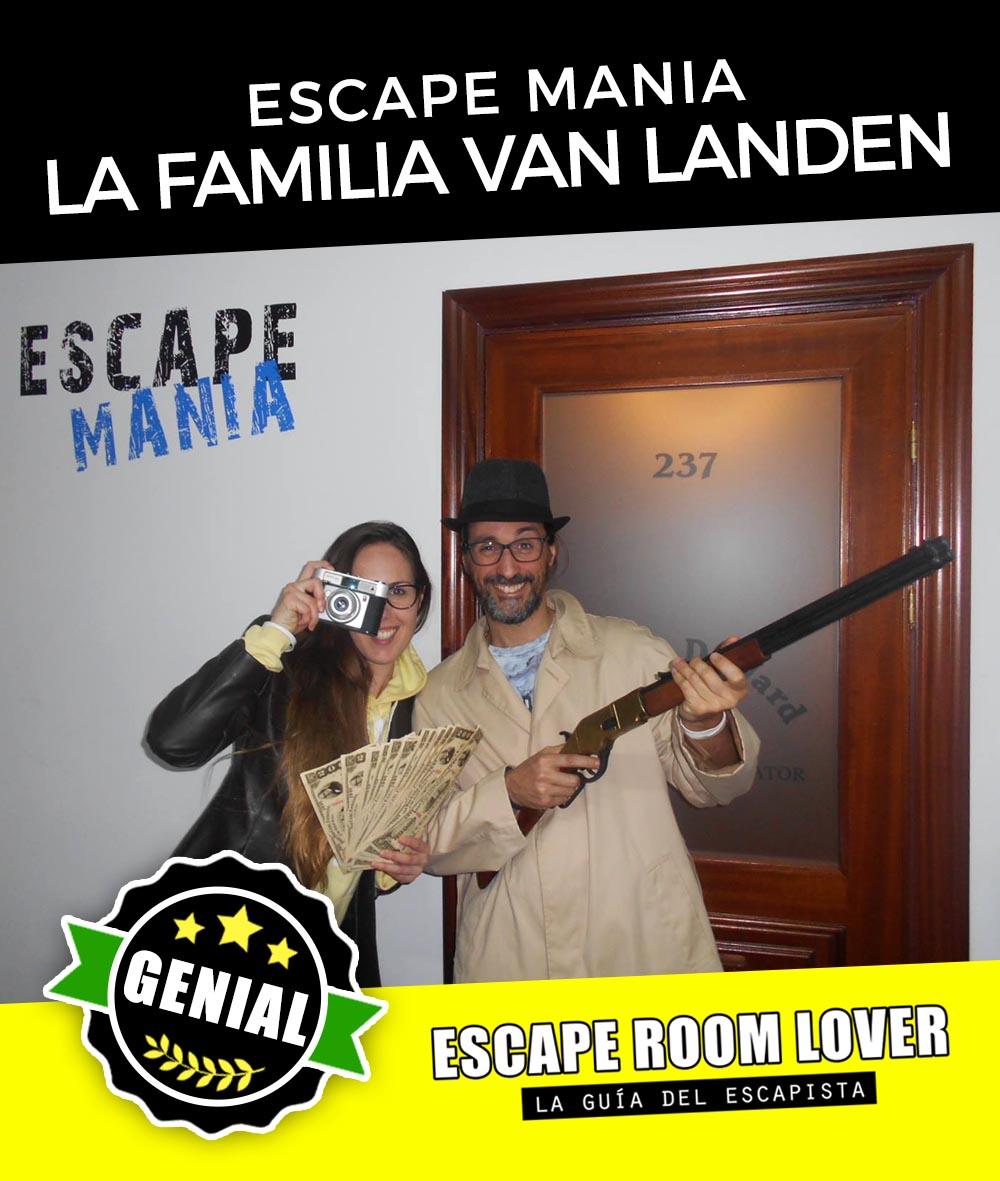 Escape Mania - El misterio de la familia Van Landen - Escape Room - Opiniones