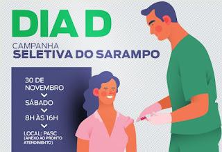 Sábado é o Dia D da Campanha de Vacinação contra o Sarampo em Cajati