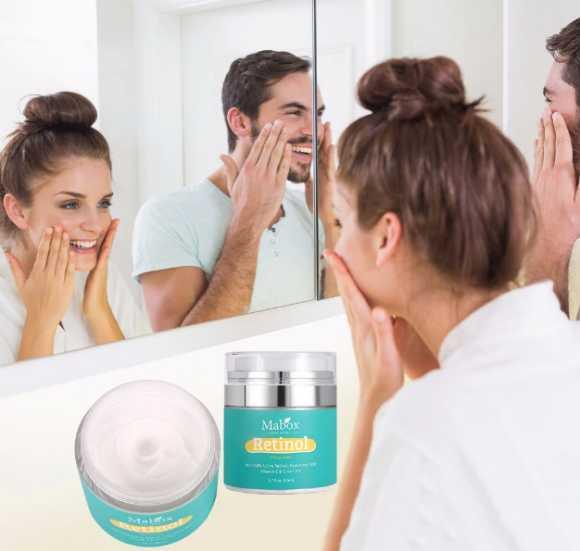Retinol whitening face Beauty Cream moisturizer tightens skin anti-wrinkle Vitamin E Cream MABOX
