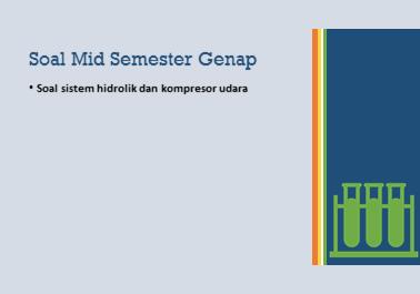 Soal sistem hidrolik dan kompresor udara
